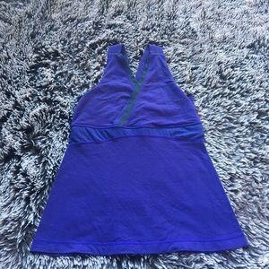 Lululemon tank top purple back pocket sz 6 small